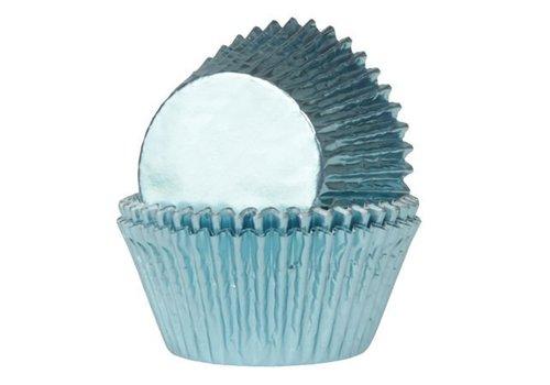 Baking Cups Folie Baby Blauw pk/24