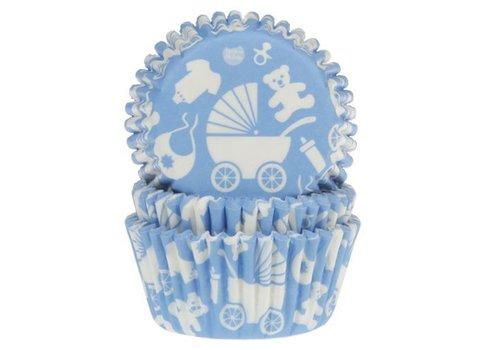 Baking Cups Baby Blauw pk/50