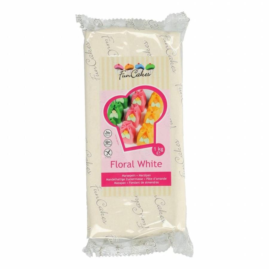 FunCakes Marsepein -Floral White- -1kg--1