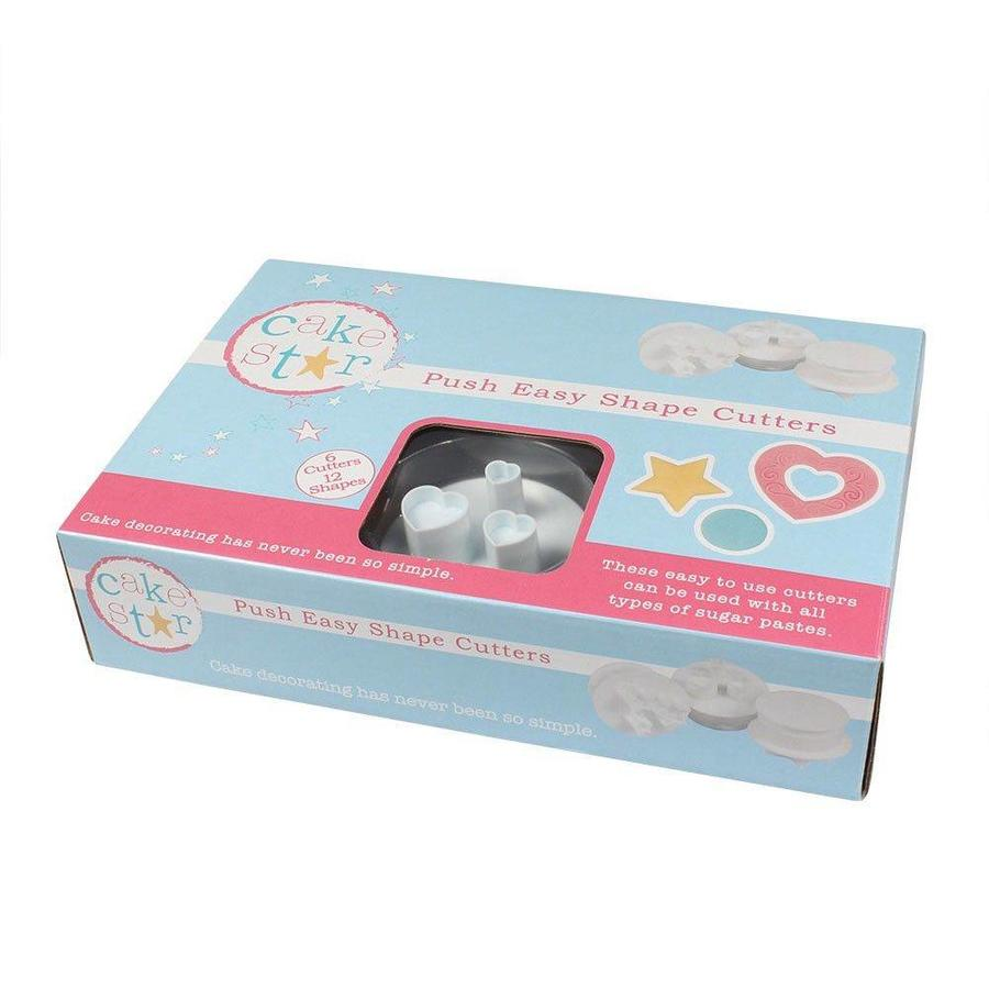 Cake Star Push Easy Shapes Cutters Set/6-1