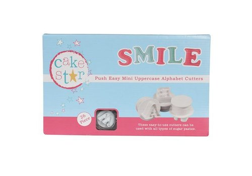 Push Easy Mini Cutters Uppercase Alphabet Set/26