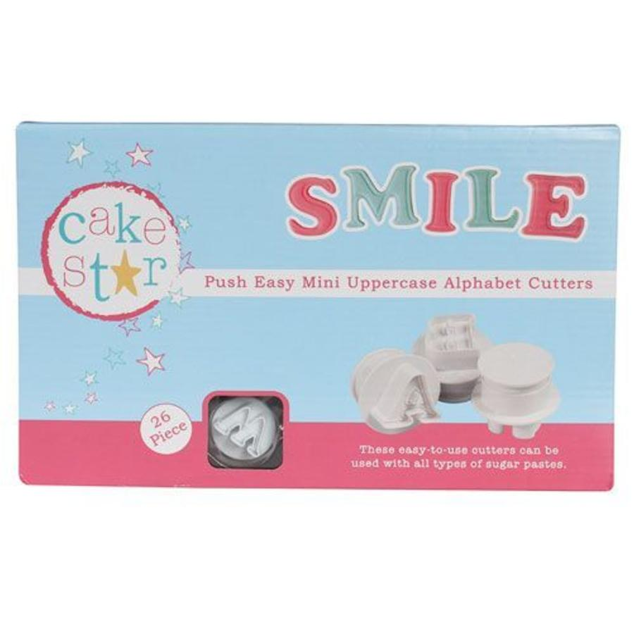 Cake Star Push Easy Mini Cutters Uppercase Alphabet Set/26-1