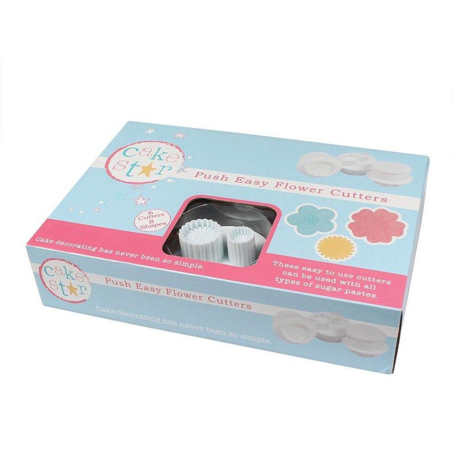 Cake Star Push Easy Flowers Cutters Set/6-1