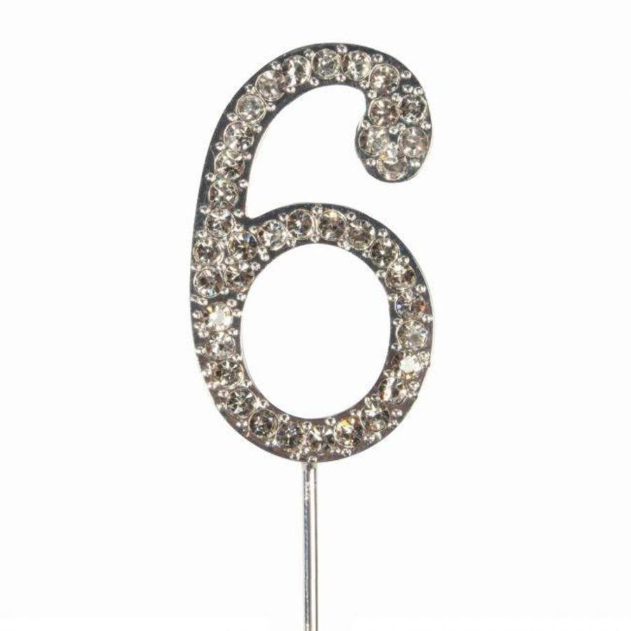 Cake Star Cake Topper Diamante Number 6-1