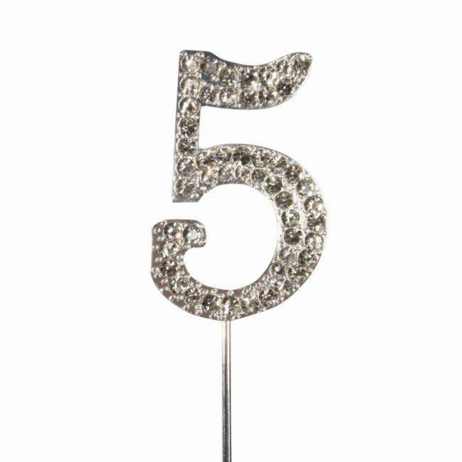 Cake Star Cake Topper Diamante Number 5-1