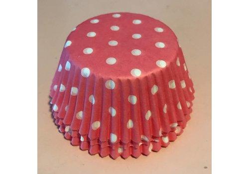 cupcake wrapper roze met stip