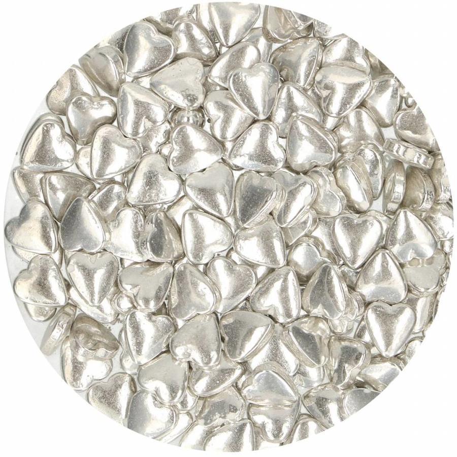 FunCakes Suikerhartjes Metallic Zilver 80g-2