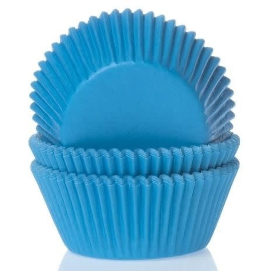 House of Marie Baking cups Cyaan blauw - pk/50-1