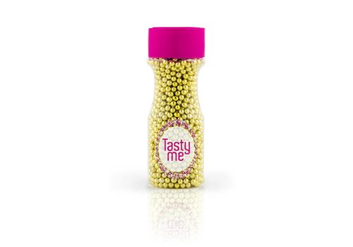 Suikerparels metallic goud 4mm