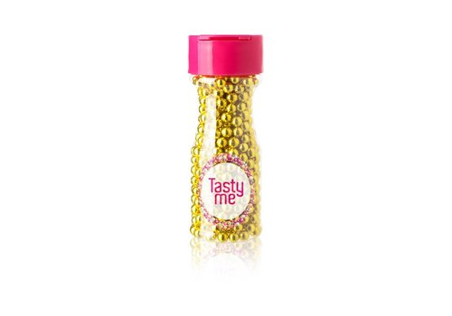 Suikerparels metallic fel goud 6mm