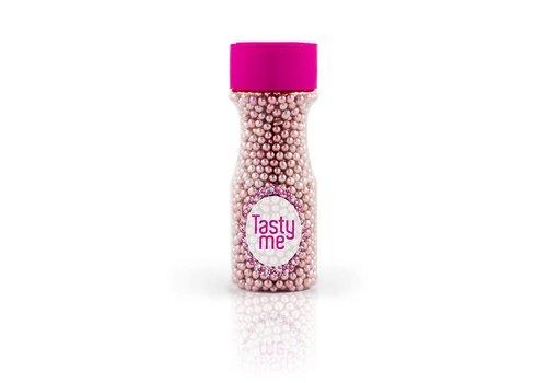 Suikerparels metallic roze 4mm Tasty Me