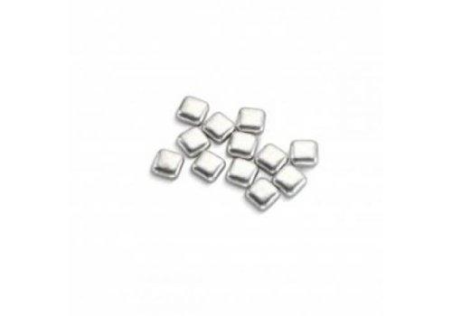 Vierkant metallic zilver