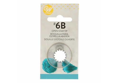 Wilton Decorating Tip #6B Open Star