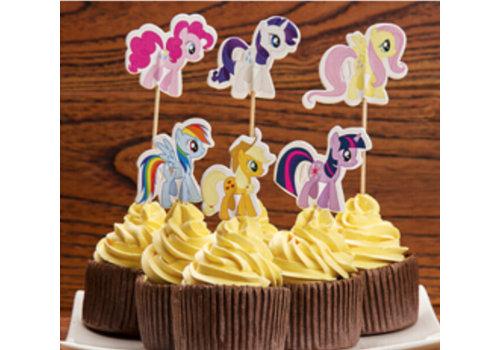 Pony cupcake prikker 24st