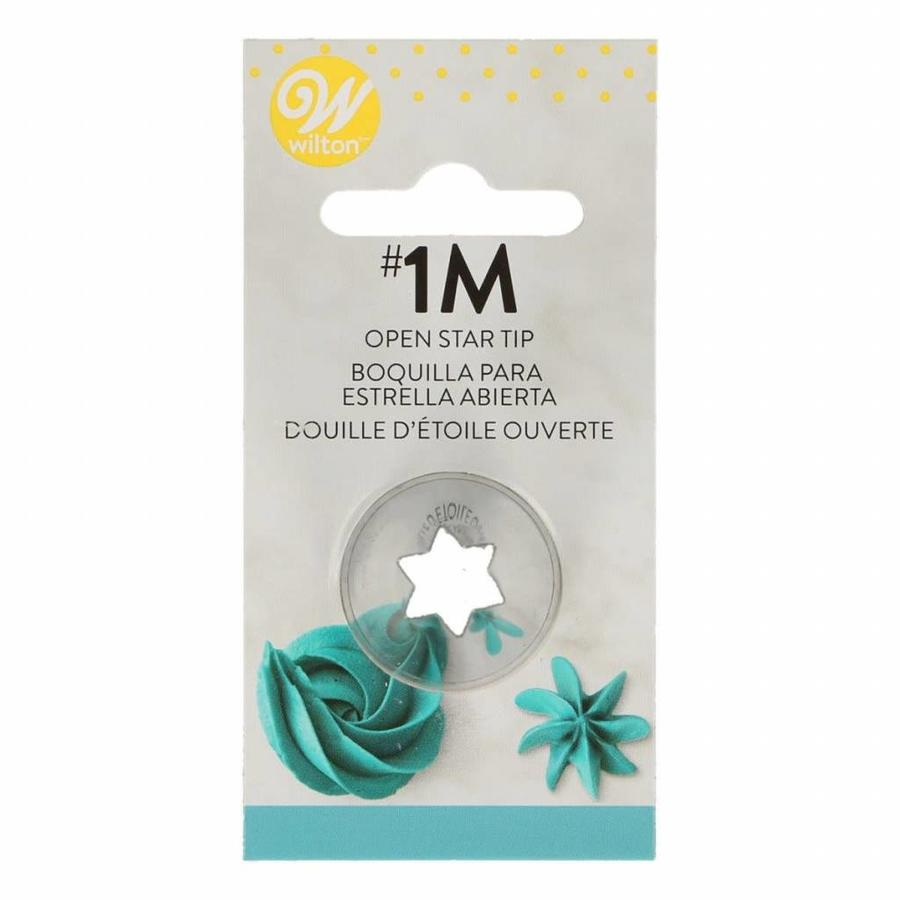 Wilton Decorating Tip #1M Open Star Carded-2