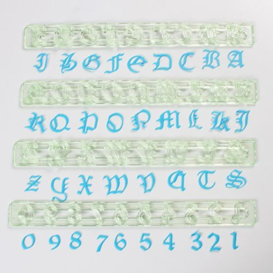 FMM Alphabet & Numbers Tappits The Old English-1