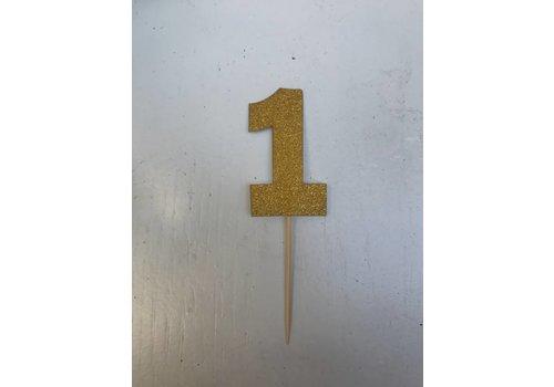 Nummer 1 prikker goud 3x