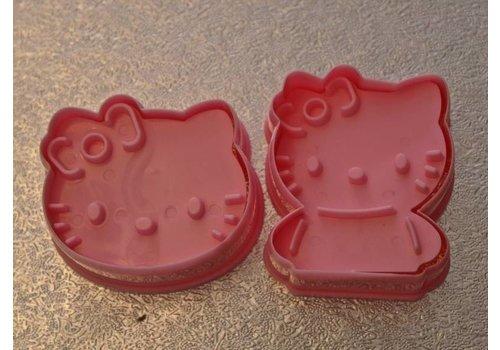 Kitty 3D koekjes vorm/ uitsteker