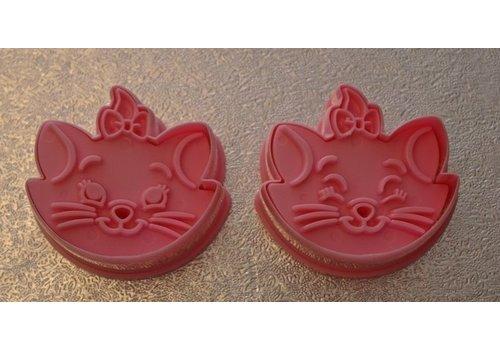 Katten 3D koekjes vorm/ uitsteker