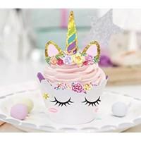 thumb-Eenhoorn cupcake wrappers met prikker 12stuks-2