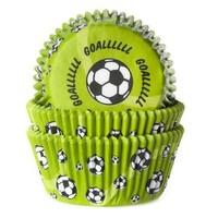 House of Marie Baking cups Voetbal Groen - pk/50