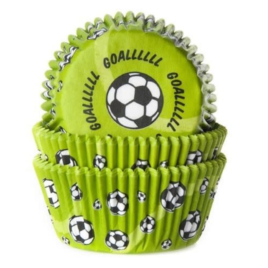House of Marie Baking cups Voetbal Groen - pk/50-1