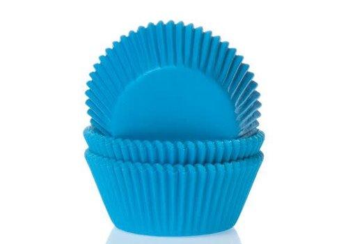 House of Marie Mini Baking Cups Cyaan Blauw pk/60
