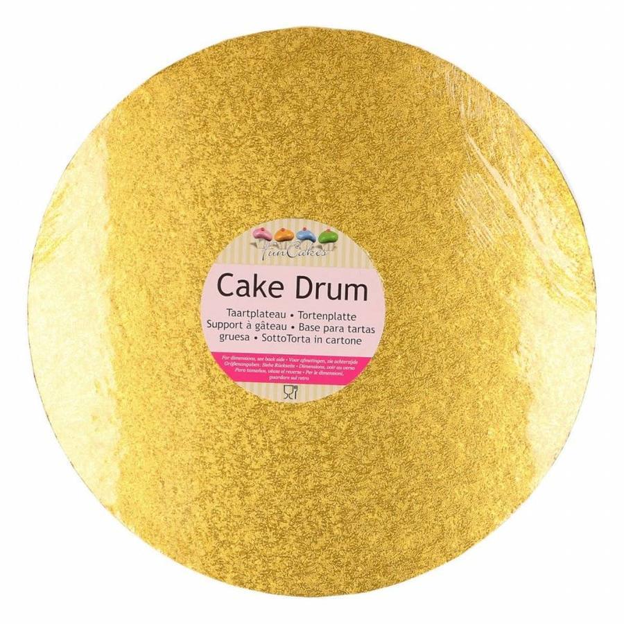 FunCakes Cake Drum Rond Ø30,5cm -Goud--1