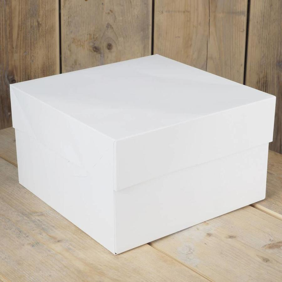 FunCakes Taartdoos -Blanco 20x20x15cm- pk/1-1
