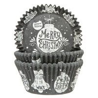 House of Marie Baking Cups Kerstbal pk/50