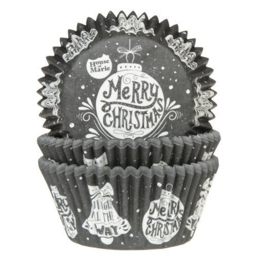 House of Marie Baking Cups Kerstbal pk/50-1