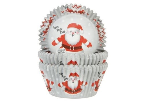 House of Marie Baking Cups Kerstman pk/50