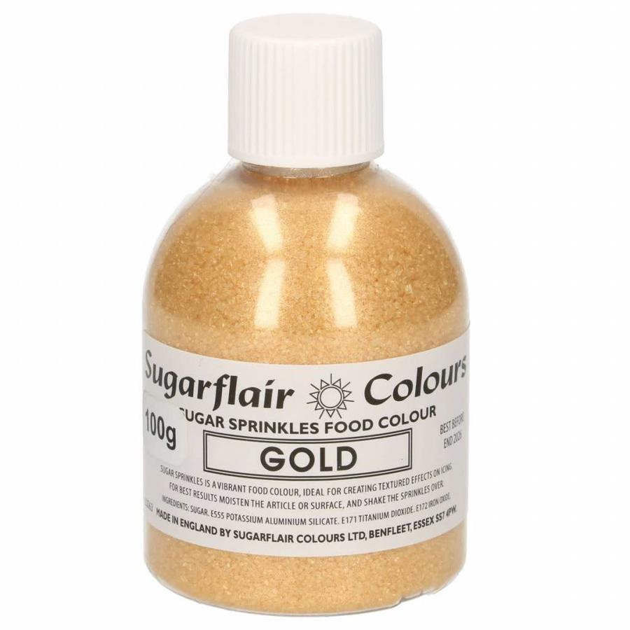 Sugarflair Sugar Sprinkles -goud- 100g-1