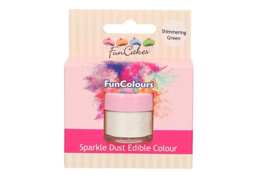 FunCakes Edible FunColours Sparkle Dust - Shimmering green