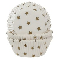 House of Marie Baking Cups Ster Goud pk/50