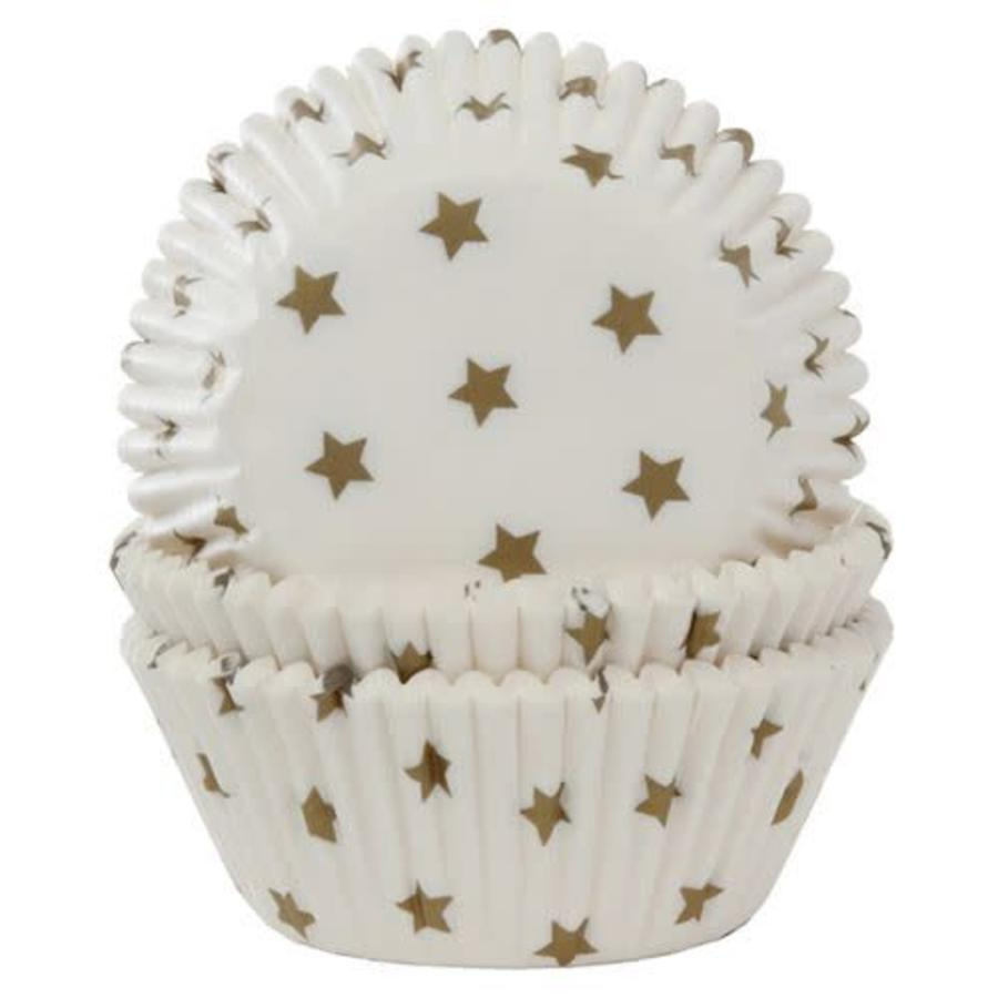 House of Marie Baking Cups Ster Goud pk/50-1