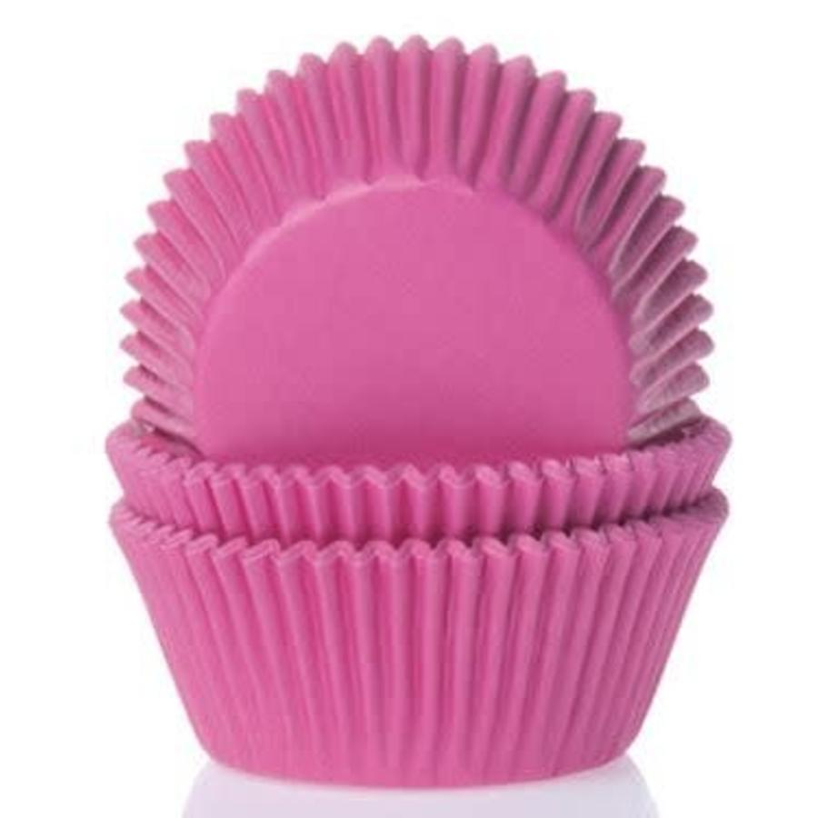 House of Marie Mini Baking Cups Hot Pink pk/60-1