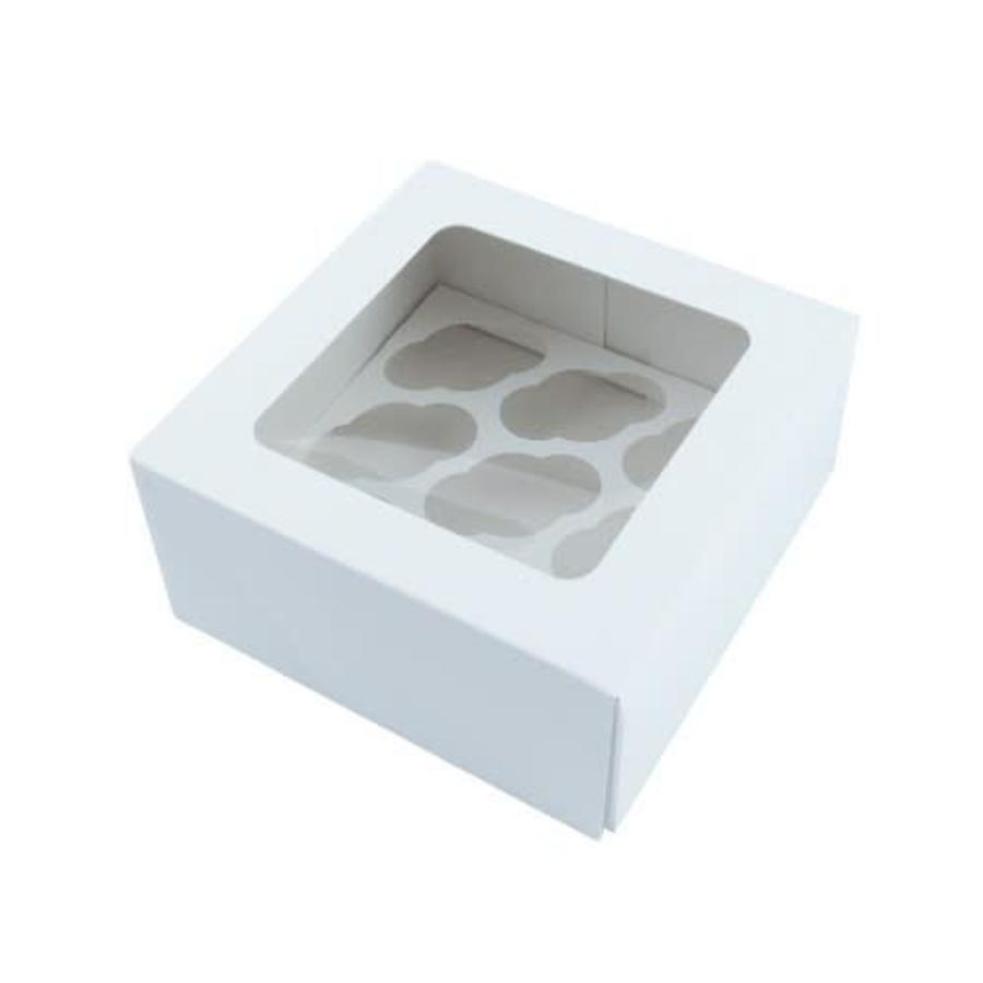 Cupcake MINI doosje 9 blank incl. tray met venster-1