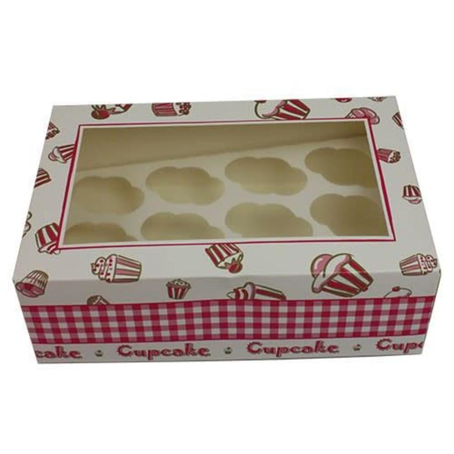 Cupcake doosje 24x16x8cm. design 12 MINI cupcakes-1
