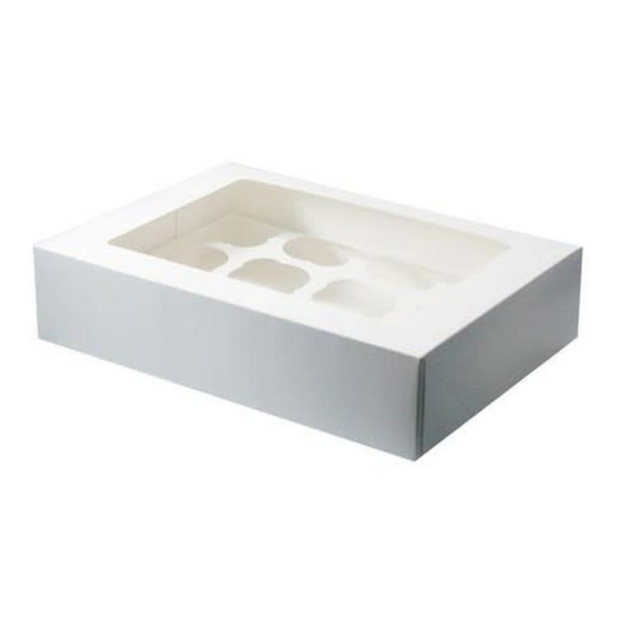 Cupcake doosje 12 blank incl. tray met venster-1