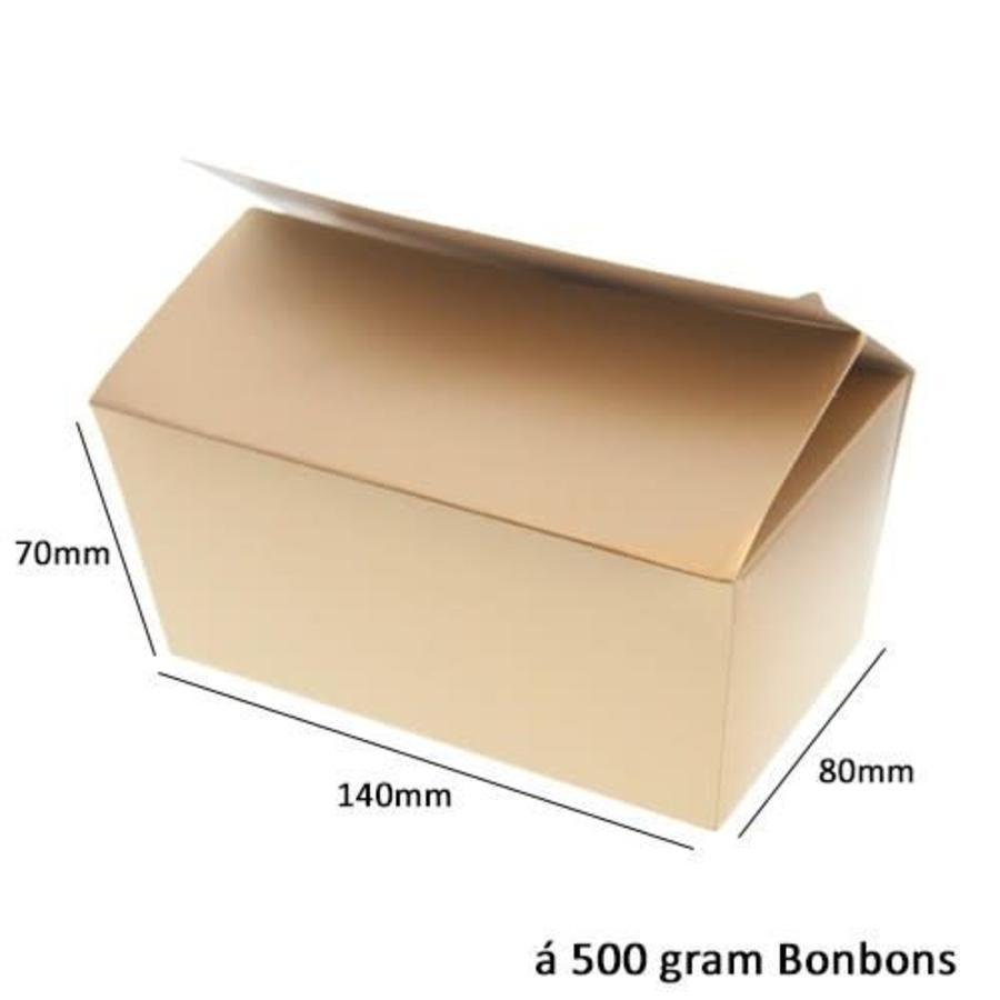Bonbon doosje Goud 500 gram-1