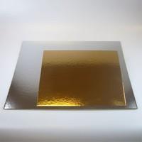 FunCakes Taartkartons zilver/goud VIERKANT 30cm, pk/3