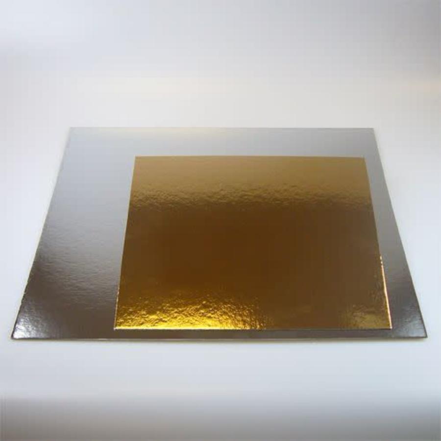 FunCakes Taartkartons zilver/goud VIERKANT 30cm, pk/3-1