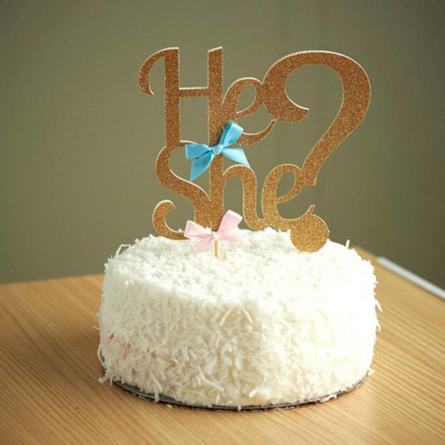 He or she cake topper-1