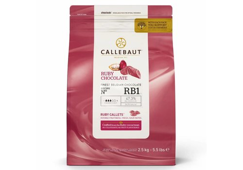 Callebaut Chocolade Callets -Ruby- 2,5 kg