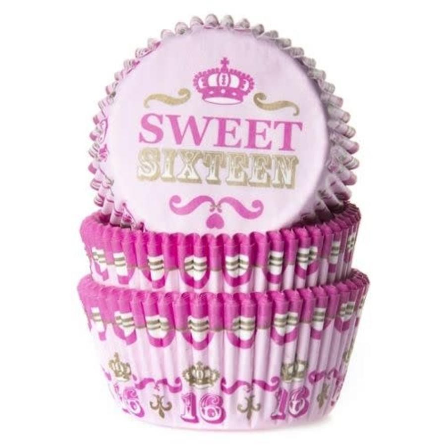 House of Marie Baking cups Sweet Sixteen - pk/50-1