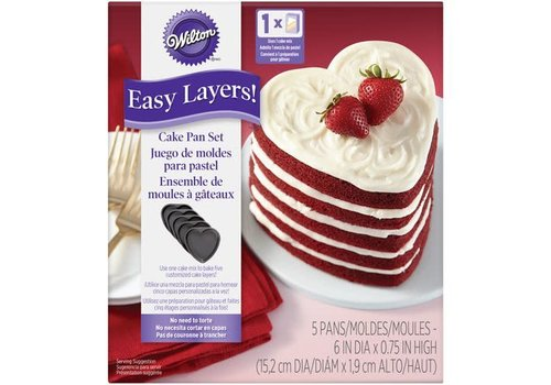 Wilton Heart Cake Pan Easy Layers Set/5