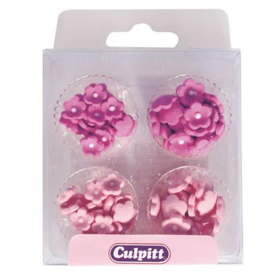 Culpitt Suikerdecoratie Mini Bloemen Roze pk/100-1
