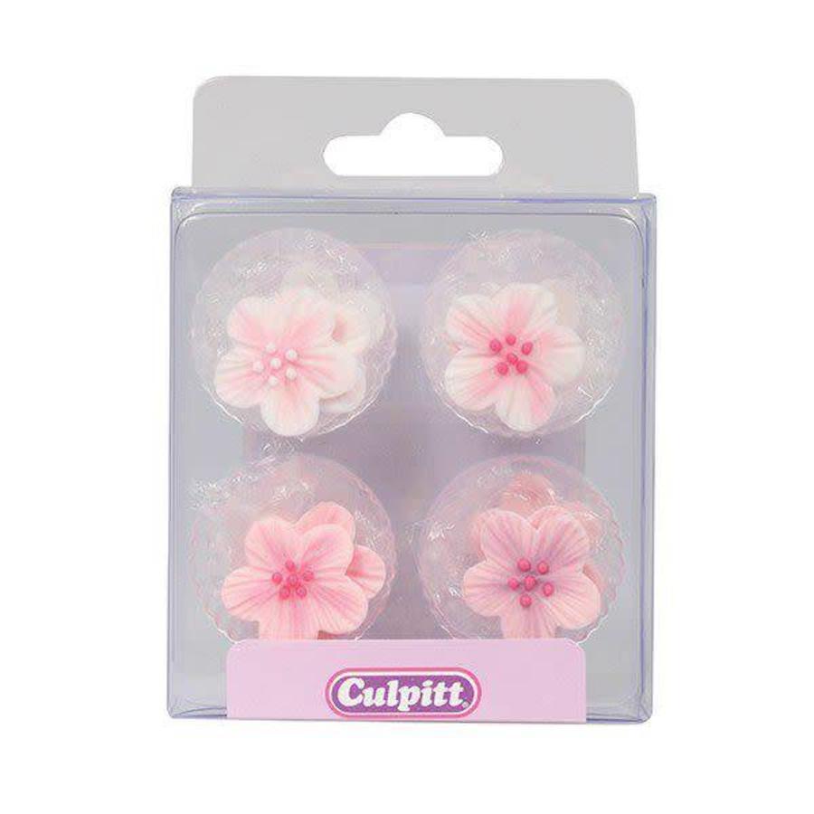 Culpitt Suikerdecoratie Bloemen Roze pk/12-1