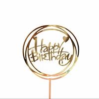 happy birthday topper hart goud